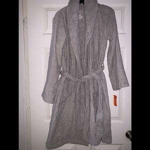 Gray sleepwear robe xs s Gilligan & omaley NWT